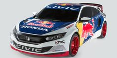 Civic Coupe in Red Bull Global Rallycross racecar livery