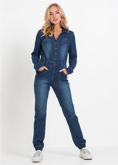 Kombinezon dżinsowy // Jeans overall  #kombinezon #overalls #fashion #moda #womensfashion #womenwear #jeans Jeans Overall, Jeans Bleu, Overalls, Pants, Jumpsuit, Style, Fashion, Trouser Pants, Swag