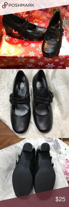 Mootsies tootsies Black soft sole, double strap Mootsies Tootsies Shoes Heels