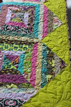 Free motion quilting--I don't know what that means but I'd love to make something like this one day!