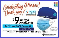 MAY is NURSES MONTH. @BondiBand has a special offer. $9 performance wicking headbands (that stay put) w/buttons for facemask bands. Buy 1 & #bondiband will donate 1. #bondibandambassador #runderdog #nurses #masks #headbands #salutingnurses - Ms Walk, Thank You Nurses, You Make A Difference, Central Nervous System, Shopping Coupons, Mom Day, Weight Control, Caregiver, Headbands