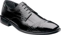 Stacy Adams Men's Garibaldi Cap Toe Oxford 24985 Black Leather Size 11 W
