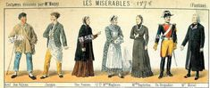 Original Costume Design from the late Working, soldier and middle class Les Miserables Costumes, Costume Design, Fur Coat, Middle, The Originals, Painting, Art, Fashion, Les Miserables