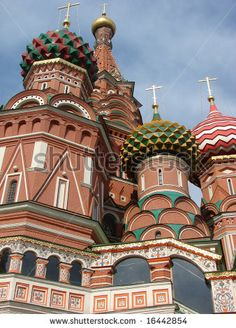 Traditional Russian architecture. The Pokrovsky Cathedral on Red Square in Moscow.