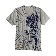 MEN DRAGON BALL Z Graphic Short Sleeve T Shirt A