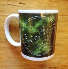 Green Circular Gallifreyan Personalised Dr Who Mug by Hx5Designs, £9.99