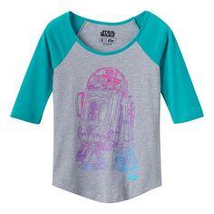 Girls 7-16 Star Wars R2-D2 Raglan T-Shirt