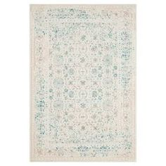 Soft tones and a gently faded look are the choice stylings of the Safavieh Imbaba Rug. This indoor area rug has a low pile for easy vacuuming and is machine loomed with a subtle pattern that looks like a whitewashed dream. The throw rug comes in an assortment of shapes and sizes so that you can continue the theme throughout all areas of your home.