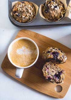 Kahvia & Kasvisruokaa: Mustikka-Aamupalamuffinssit (gf, v)