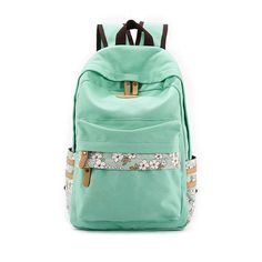 Vintage Girl School Bags For Teenagers Cute Flower Pattern Canvas Women Backpack Mochila Feminina Casual Bag School Backpack