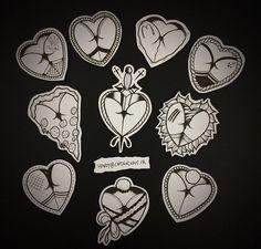 traditional heart butt tattoo