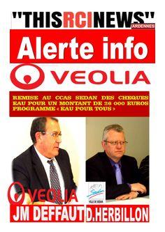 RCI CHAMPAGNE ARDENNES: SEDAN: VEOLIA VERSE PLUS DE 26 000 euros au CCAS D...