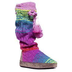 Women's MUK LUKS Angie Slipper Boots – Multicolor XLRG