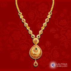 Lighten up your look with this classic wrapped jewel collection! Choose your favorite - www.lalithaajewellery.com Gold Jhumka Earrings, Gold Earrings Designs, Necklace Designs, 1 Gram Gold Jewellery, Gold Jewellery Design, Gold Wedding Jewelry, Gold Jewelry, Gold Chain Design, Gold Necklace Simple