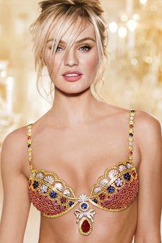Candice Swanpoel wears Victoria's Secret's $10 million 2013 Holiday Royal Fantasy bra