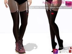 b5f6fafd2351ce Second Life Marketplace - Full Perm MI Tights with Stockings Omega Applier  Template + PSD Template