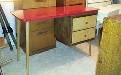 Vintage midcentury atomic desk console