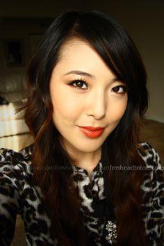 From Head To Toe: Juicy Orange Spring Makeup Tutorial