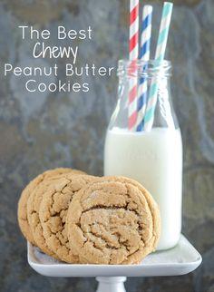 Chewy Peanut Butter Cookies recipe via www.thenovicechefblog.com