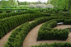 Maze Garden at The Morton Arboretum, IL    #nature #mortonarboretum #garden #Chicago #outdoors #maze
