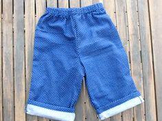 baby pants // soft flannel baby pants polkadot by birdiesaid, $10.00