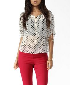 Sheer Polka Dot Shirt