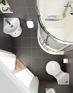 Tiny House Bathroom Designs That Will Inspire You, Best Ideas ! Modern Bathroom Designs For Small Spaces Tiny Bathrooms, Ensuite Bathrooms, Tiny House Bathroom, Attic Bathroom, Bathroom Layout, Bathroom Showers, Attic Shower, Bathroom Ideas, Bathroom Designs