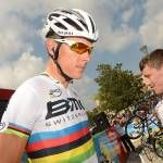 Philippe Gilbert (BMC) retires from the Vuelta a Espana 2013 on Stage 15