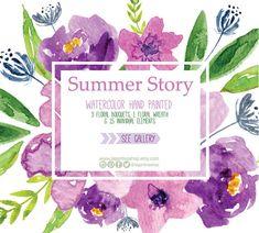 Flores en Acuarela, Bouquet Clipart PNG, pintadas a mano, arreglo de flores, marcos, para invitaciones, despedida de soltera, tarjetas, blog