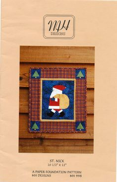 St Nick wall hanging quilt pattern by MH Designs by RefineryNH, $7.99