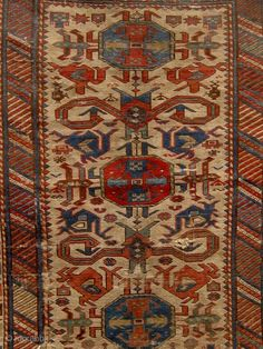 Antique Caucasian Shirvan Perpedil carpet, last quarter of the 19th century, all dyes natural. In distressed condition as shown. Please ask for additional photos if needed.