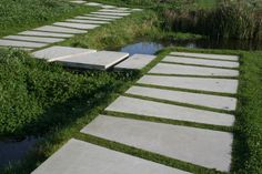 Erik Dhont - Landscape Architect idea - pavers with planted spaces in between (fragrant steppable herbs??)