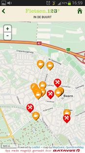 With the 'fietsen123' app you can easily plan, save and share a route. How does the planning work? Simple, choose a node where you wish to start, from this point onwards continue selecting the available nodes on the map to complete the route. Are you satisfied save the route. Another way is to choose a start and end node after which the app will calculate the shortest route.