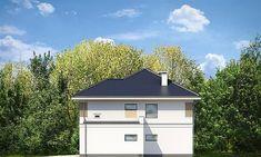 Elewacja prawa projektu Tytan 4 Home Fashion, Gazebo, House Plans, Garage Doors, Shed, Outdoor Structures, Cabin, House Styles, Outdoor Decor