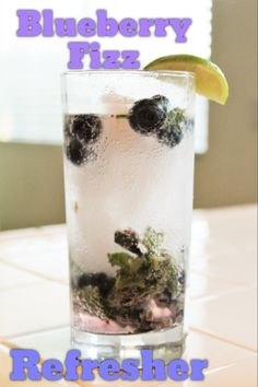 0 calorie virgin drink, or add a shot of rum for a blueberry mojito! #lowcaloriebeverage #disneyfood #21dayfix