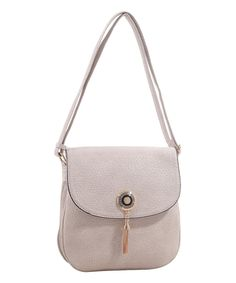 This MKF Collection | Beige Tassel Crossbody Bag by MKF Collection is perfect! #zulilyfinds