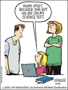Dec 16, 2020 - View the comic strip for Moderately Confused by cartoonist Jeff Stahler created May 18, 2020 available on GoComics.com Funny Cartoons, Funny Jokes, Hilarious, Cartoon Jokes, School Jokes, School Staff, Sunday School, Teaching Memes, Teacher Jokes