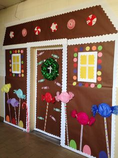 My classroom gingerbread house -door!!! Mrs. Jackson's Class at Childrens's Center