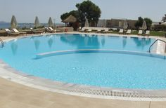 The crystal clear Ideales swimming pool of Candia Maris in Crete.