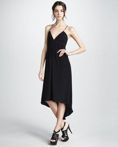 emily thorne's black spaghetti strap dress found by @Dana Weiss. #revenge