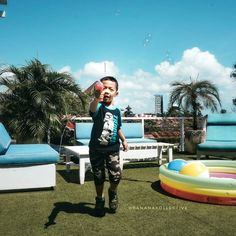 Bali. Sunday play day while mommy & daddy having brunch at @NebulaBali #Kuta
