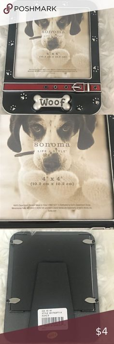 Brand New Adorable Dog Collage Pewter Silver Photo Picture Frame