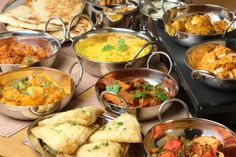 asian food dinner party ideas | Indian food informality easily lends itself to sharing with a large ...