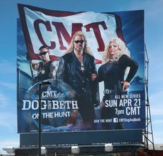 Dog and Beth: On the Hunt billboard in downtown Nashville, TN.