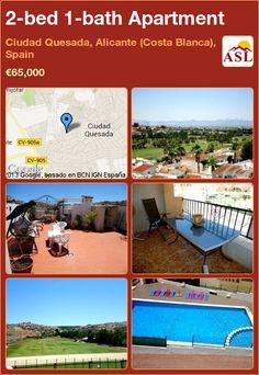 2-bed 1-bath Apartment in Ciudad Quesada, Alicante (Costa Blanca), Spain ►€65,000 #PropertyForSaleInSpain