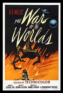 """1950'S Horror Movie Posters - """"War of the Worlds"""" : Film adaptation of H.G.Wells story (told on radio of invasion of Earth by Martians). Director: Byron Haskin Writers: H.G. Wells (novel), Barré Lyndon (screenplay) Stars: Gene Barry, Ann Robinson, Les Tremayne tubepig.wordpress..."""