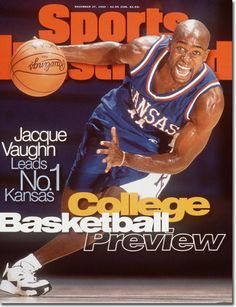 Jacque Vaughn, Basketball, Kansas Jayhawks