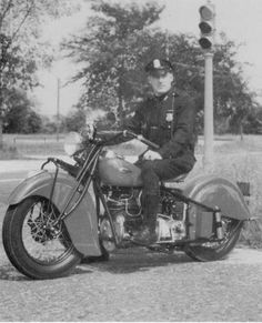 Indian Motorcycle cop of yore