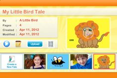 Little Bird Tales - a great iOS app based on the popular website for creating digital storytelling
