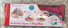 Infantino Baby Girl Animals Twist and Fold Activity Gym and Playmat Tummy Time #Infantino